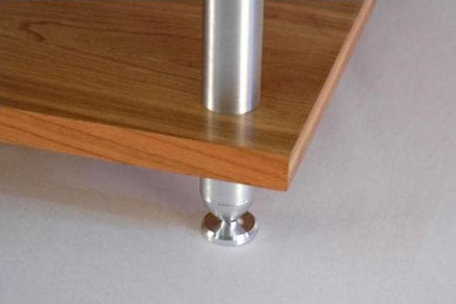 hifi rack 3 ebenen holz aluminium hifi zubehoer 24. Black Bedroom Furniture Sets. Home Design Ideas